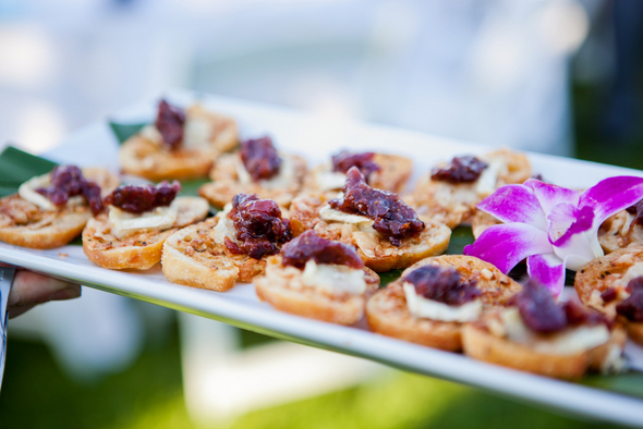 Colourful Canapes at Wedding