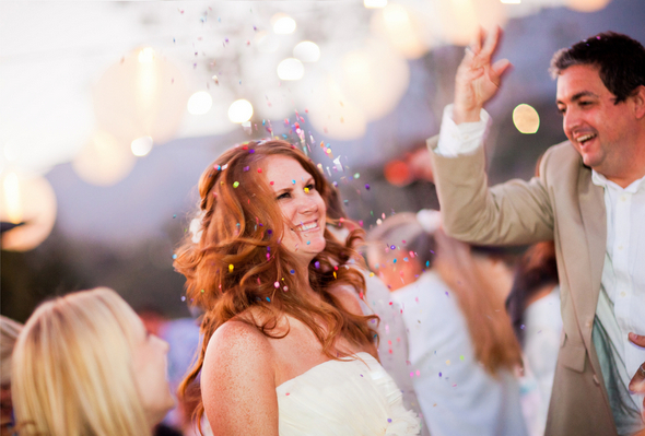 Colourful Wedding with Confetti