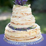 {Cake Inspiration} Crepe Wedding Cake with Lavender