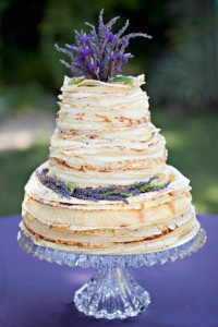 Crepe Wedding Cake with Lavender