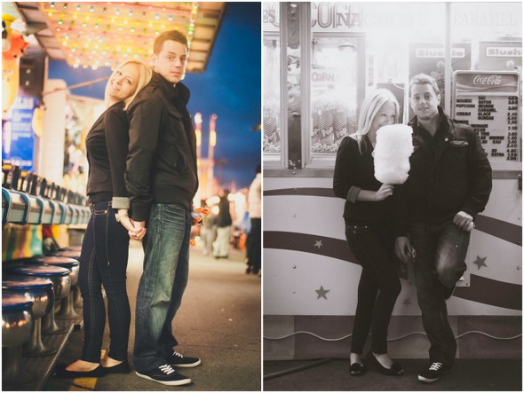e session amusement park Amusement Park Engagement Shoot