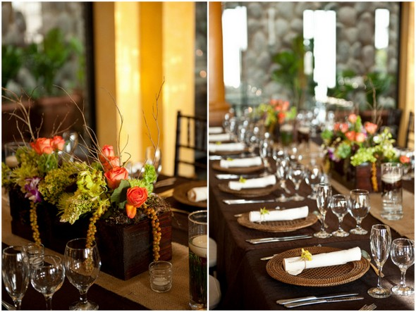 Eco Friendly Wedding Table Decor