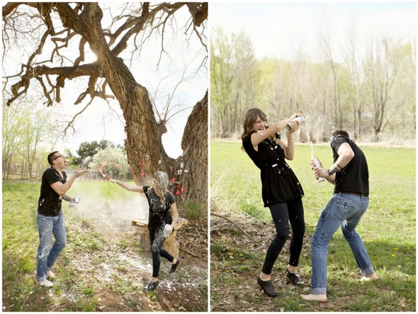 Engagement Food Fight Photo Ideas
