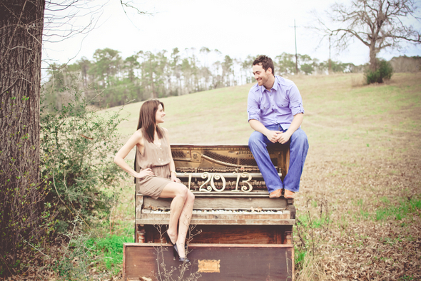 Engagement Shoot Old Piano