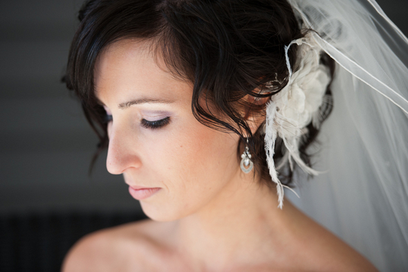 Feather Bridal Hairpiece
