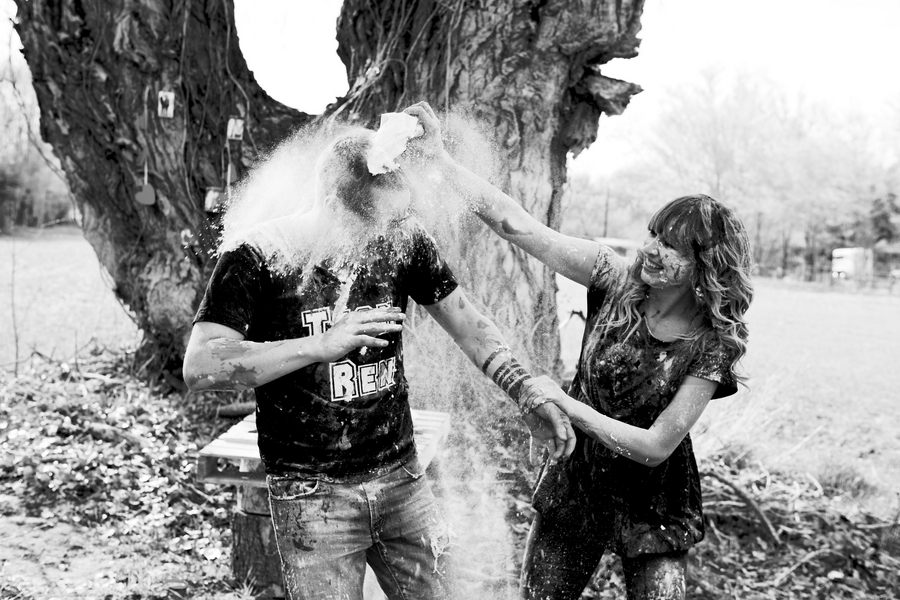 Food Fight Engagement Photos