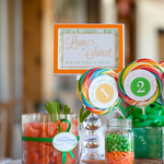 Green and Orange Candy Buffet