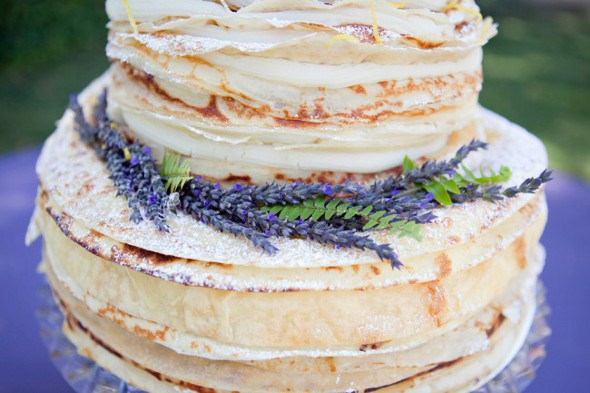 lavender wedding cake ideas {Cake Inspiration} Crepe Wedding Cake with Lavender