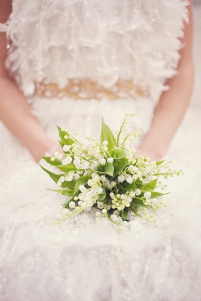 Wedding Flowers Ideas For Bridesmaids : Bouquet inspiration small lily of the valley wedding