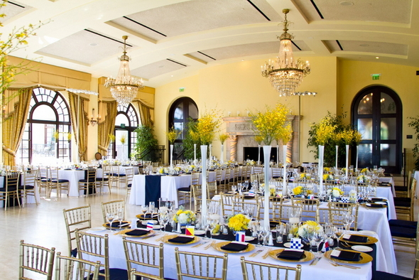 Luxury Wedding Reception in Navy and Gold