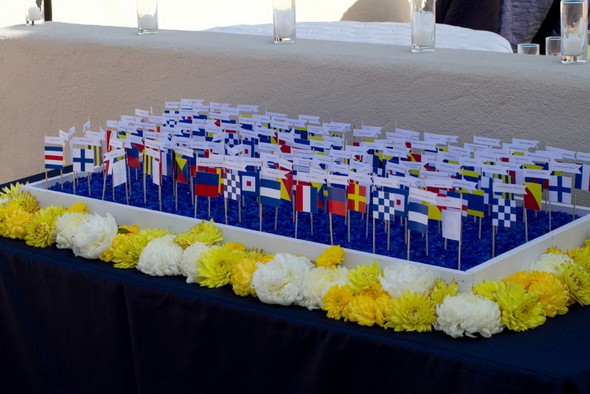 Nautical Flags Escort Cards