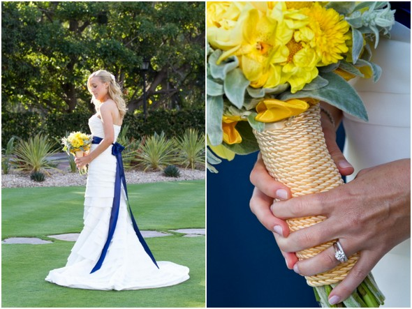 Nautical Inspired Yellow Bouquet