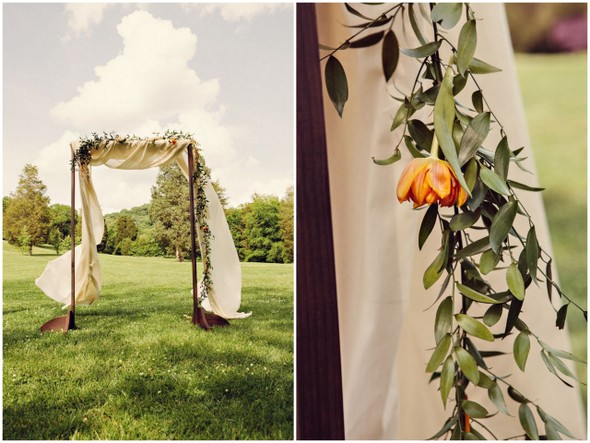 Peach Ivory Ceremony Arbor
