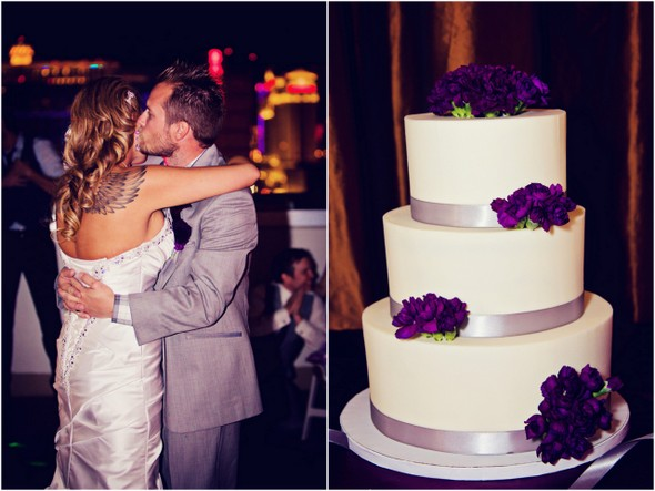 Purple and Grey Wedding Cake