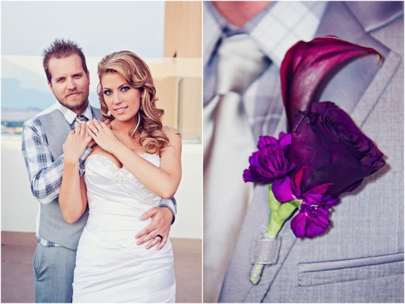 Purple and Light Grey Wedding