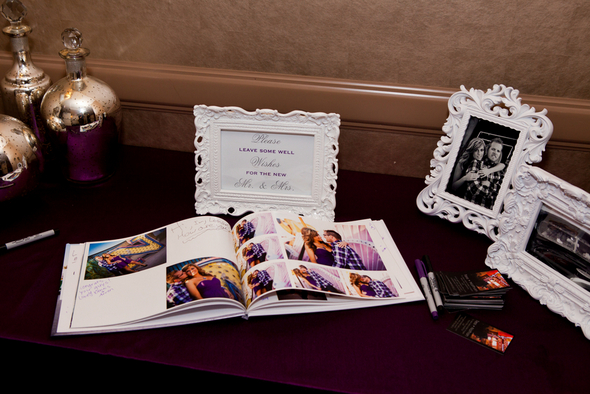 Purple and Silver Guest Book