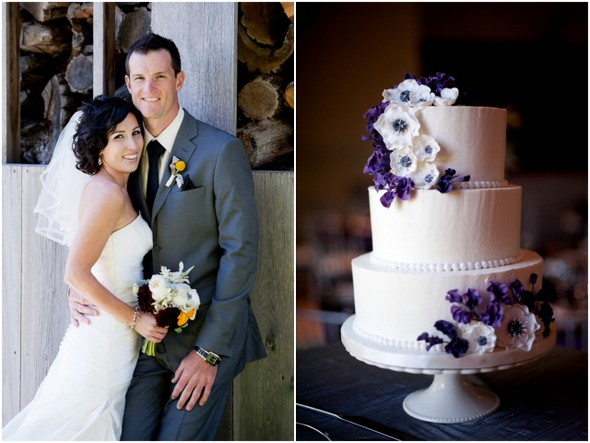 Modern Purple and Silver Ontario Wedding with Pops of Yellow!