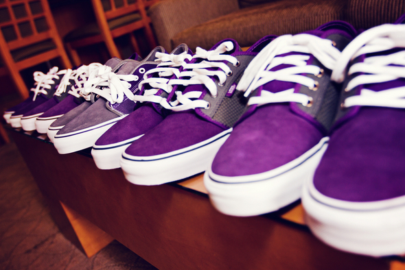Purple Sneakers Wedding Attire