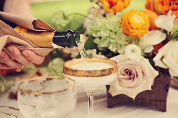 Vintage Country Wedding Champagne