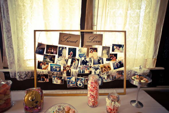 vintage diy photo display Vintage DIY Wedding by Studio Vérité Photography
