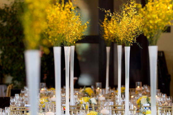 Yellow and White Tall Centerpieces