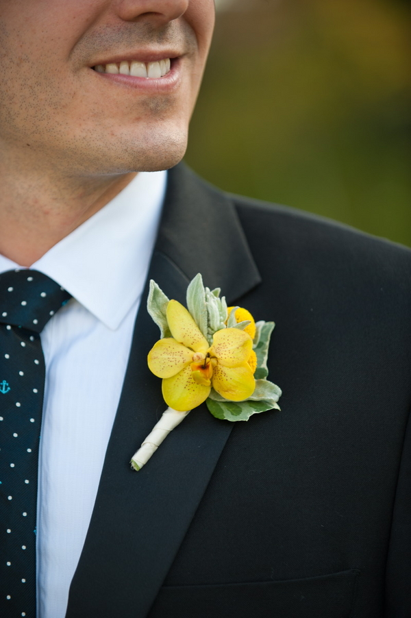 Yellow Buttonhole Ideas