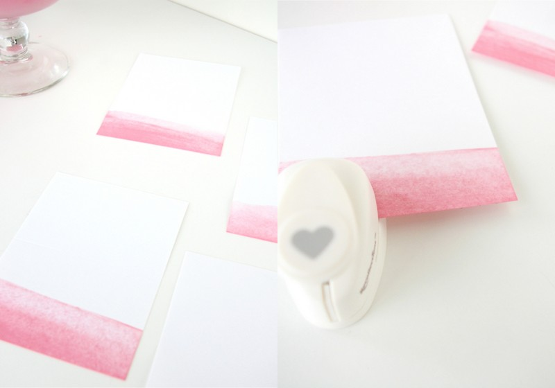 DIY ombre place cards