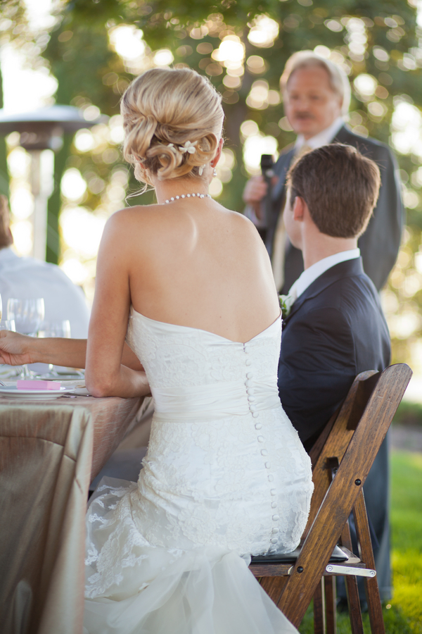 backless wedding gown with buttons Napa Valley Private Estate Wedding by Luke Snyder Studio