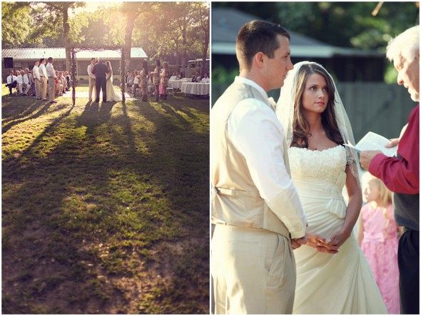 backyard florida ceremony Rustic Backyard Wedding by Adria Peaden Photography