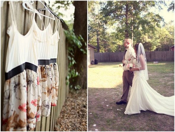 backyard rustic wedding ceremony Rustic Backyard Wedding by Adria Peaden Photography