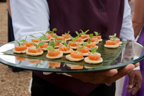 Canapes at Wedding