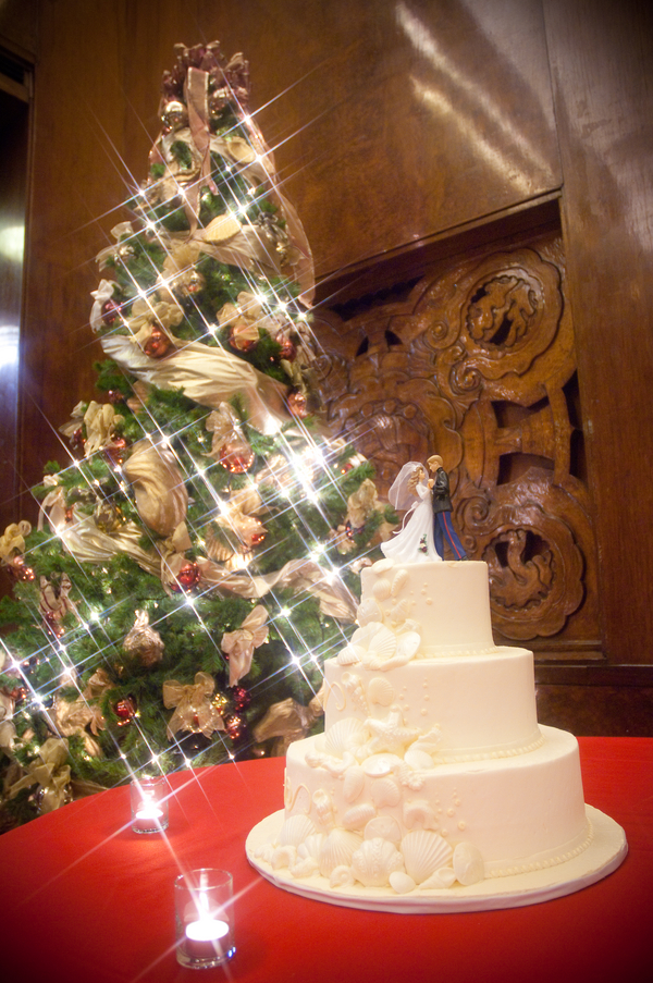 christmas wedding cake table ideas Long Beach Wedding on the Queen Mary Ship