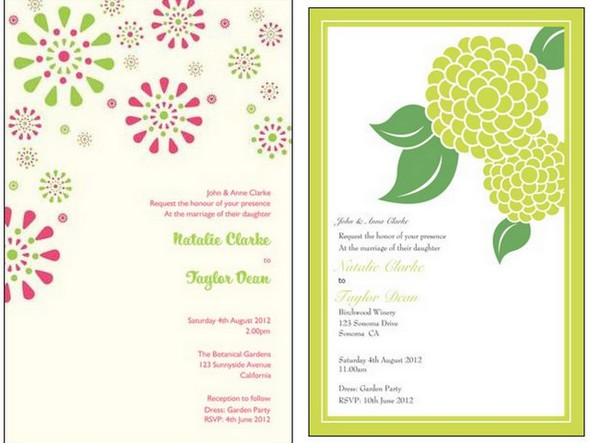 Bright & Colourful Wedding Invitations