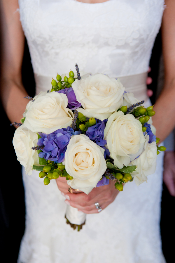 Creme & Mauve Bridal Bouquet