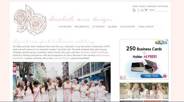elizabeth anne designs1 {Guest Post} Inspirational Wedding Blogs and Websites