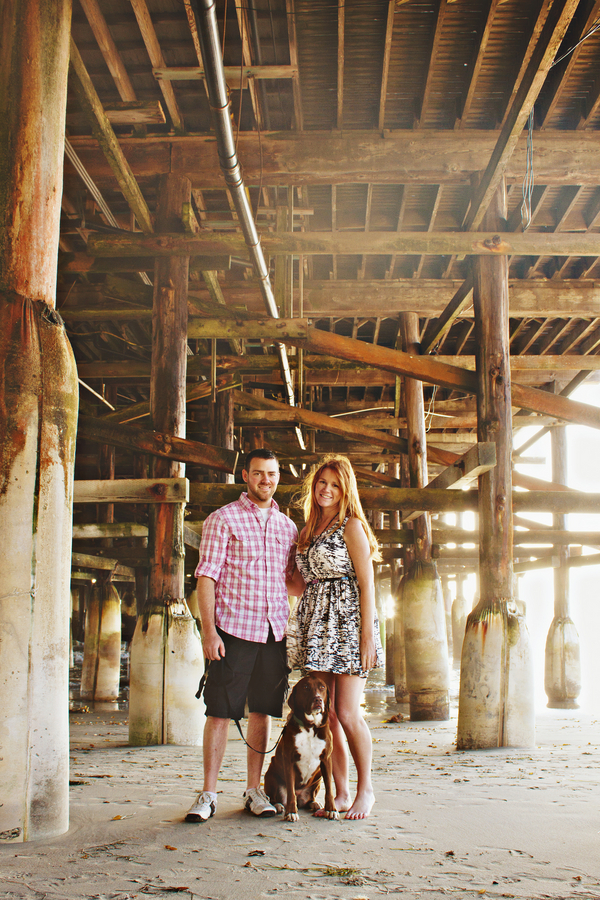 fishing engagement san diego San Diego Beach Engagement Session with Peanut Butter & Jelly!