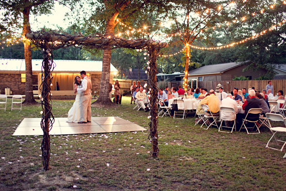 florida backyard wedding Rustic Backyard Wedding by Adria Peaden Photography