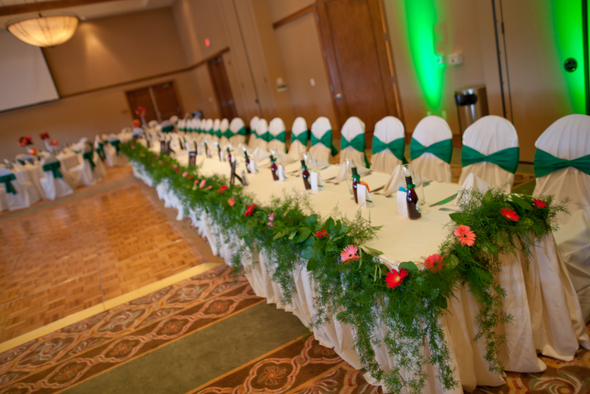 Gerbera Daisy Themed Wedding Reception