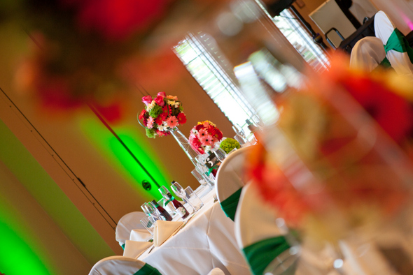 Gerbera Themed Wedding Centerpieces