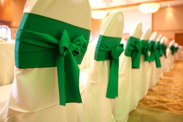 Green Wedding Chair Sashes