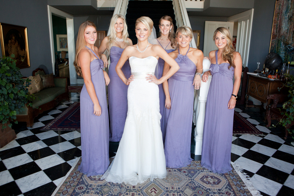 mauve long bridesmaid dresses Napa Valley Private Estate Wedding by Luke Snyder Studio