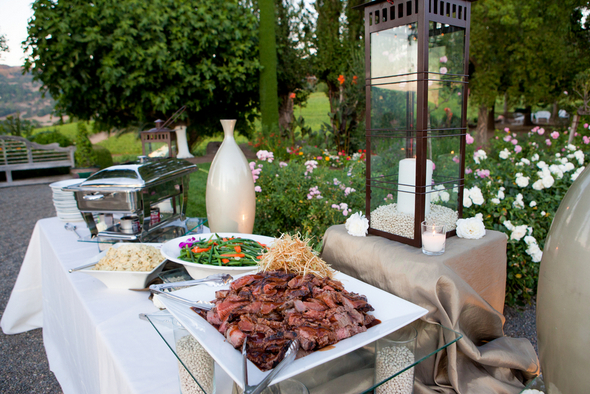 napa valley buffet ideas Napa Valley Private Estate Wedding by Luke Snyder Studio