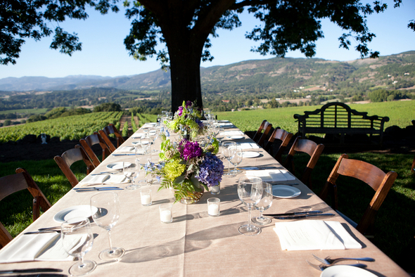 napa valley outdoor wedding table Napa Valley Private Estate Wedding by Luke Snyder Studio
