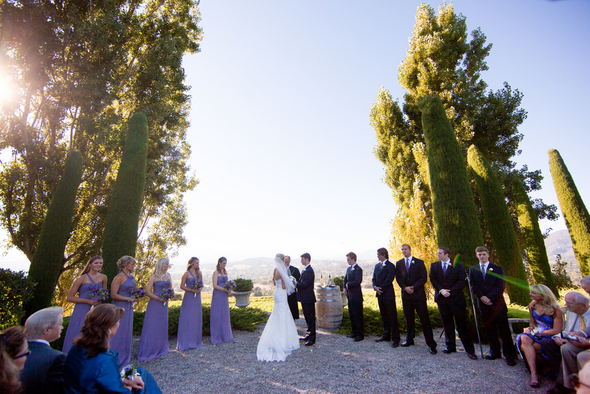 napa valley wedding ceremony Napa Valley Private Estate Wedding by Luke Snyder Studio