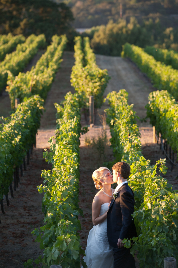 Napa Valley Winery Wedding Couple