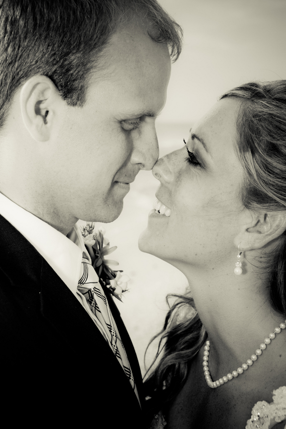 Naples Florida Beach Wedding Bride & Groom