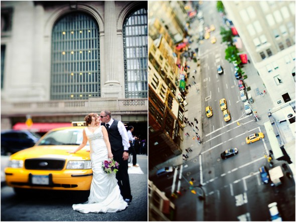 new york terrace wedding1 Midtown Loft and Terrace New York Wedding by Off BEET Productions