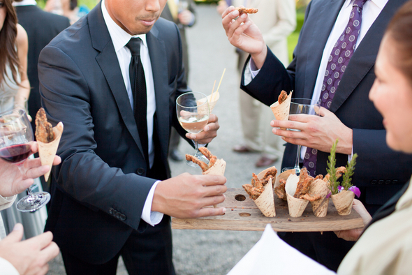 outdoor wedding food ideas Napa Valley Private Estate Wedding by Luke Snyder Studio