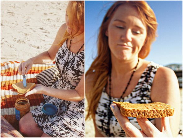 peanut butter love session San Diego Beach Engagement Session with Peanut Butter & Jelly!