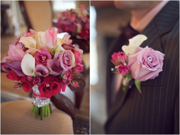 Pink and Silver Rhinestone Wedding Ideas